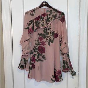 keepsake Night Lights Dress in Blush Floral
